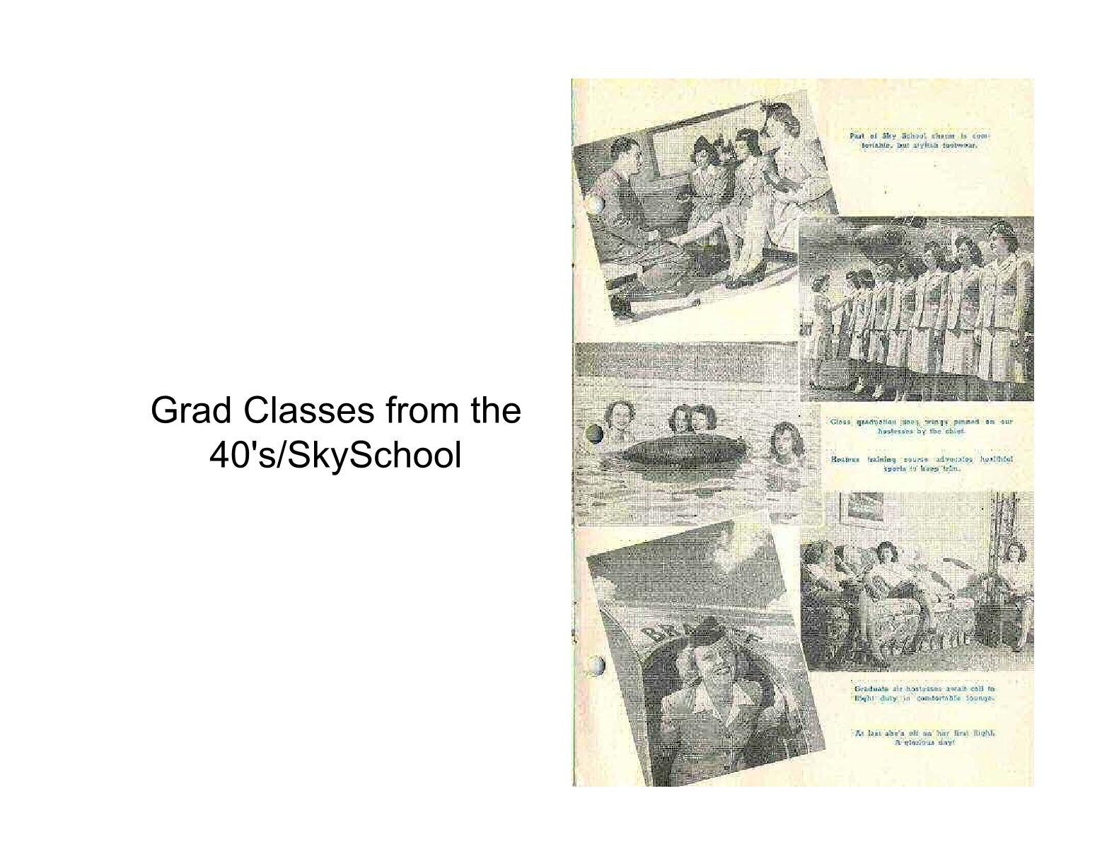 1930 - 1940s classes